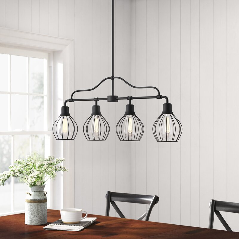 Mahtomedi 4 Light Kitchen Island Linear Pendant Reviews Birch Lane