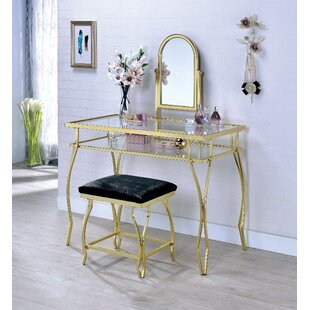 Ceylon Vanity Set with Mirror by House of Hampton