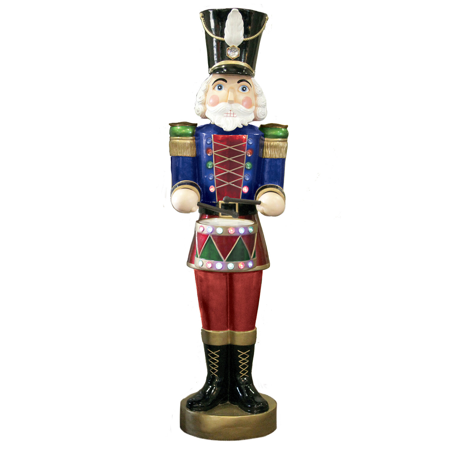 the holiday aisle led musical and motion lifesize nutcracker wayfair - Life Size Nutcracker Outdoor Christmas Decorations