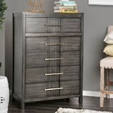 Teton Transitional Wood 5 Drawers Chest by Ivy Bronx