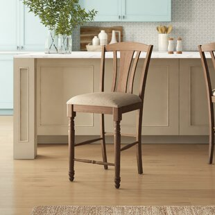Perez Slat Back 19 Bar Stool (Set Of 2) by Birch Lane™ Heritage Fresh