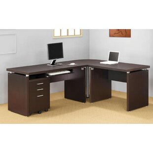 Ollie 4 Piece L-shaped Desk Office Suite by Ebern Designs