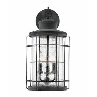 Kline 3-Light Outdoor Wall Lantern by Breakwater Bay