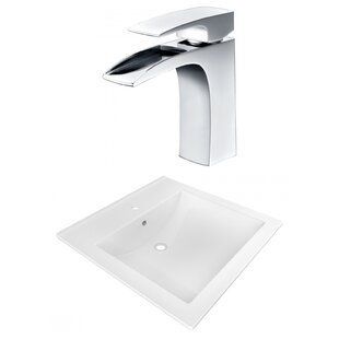 Shopping for 1 Hole Ceramic Rectangular Vessel Bathroom Sink with Faucet and Overflow ByAmerican Imaginations