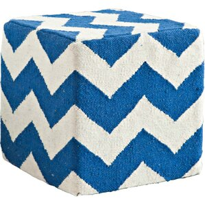Allandale Chevron Ottoman by Breakwater Bay