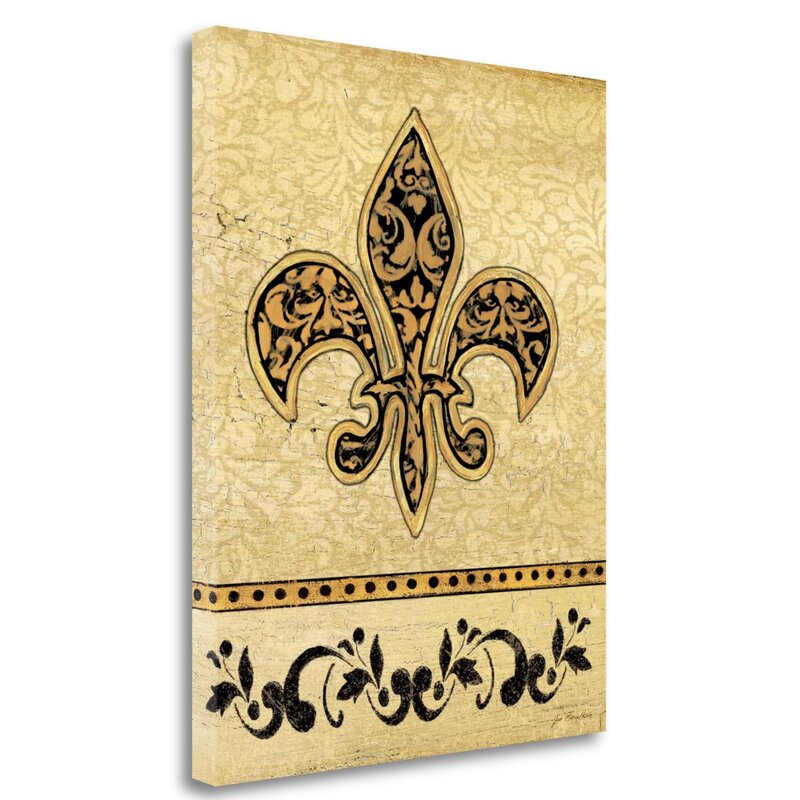 'Fleur De Lis I' Graphic Art Print on Wrapped Canvas