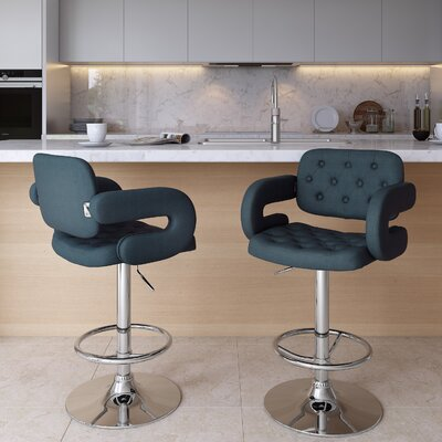 Fantastic Quimir Adjustable Height Swivel Bar Stool Brayden Studio Gmtry Best Dining Table And Chair Ideas Images Gmtryco