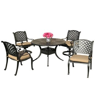 Beadle 5 Piece Sunbrella Dining Set with ..