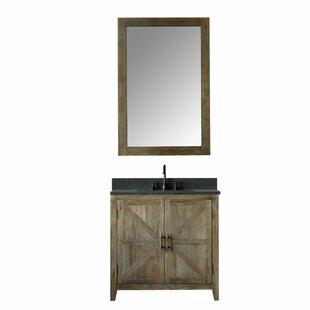 Alamo 36 Single Bathroom Vanity Set with Mirror