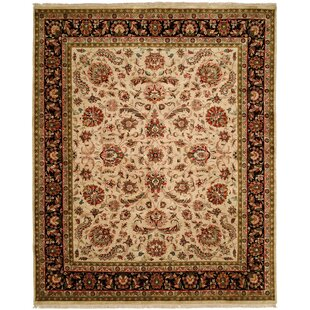 Shopping for Banerjee Hand-Woven Beige/Black Area Rug ByMeridian Rugmakers