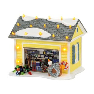 ceramic christmas vacation griswold garage village building