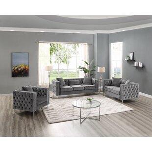 Peasely 3 Piece Standard Living Room Set ByMercer41