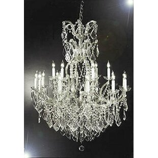 Astoria Grand Swigert Candle-Style 16-Light Chandelier