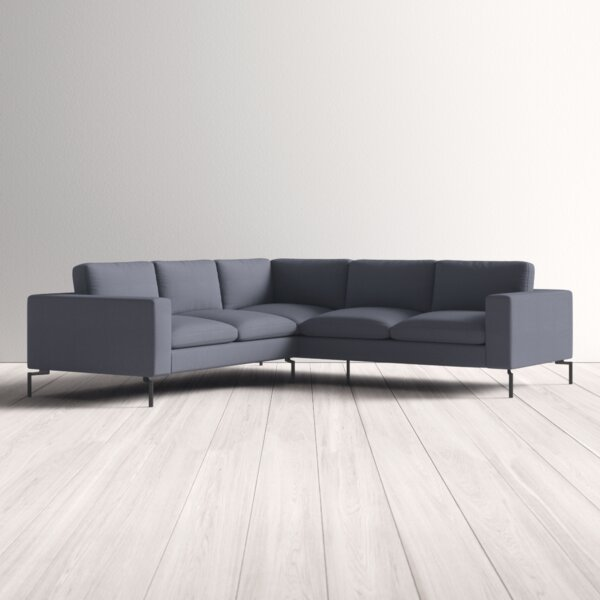 Sensational Modern Contemporary Small Curved Sectional Sofa Allmodern Evergreenethics Interior Chair Design Evergreenethicsorg
