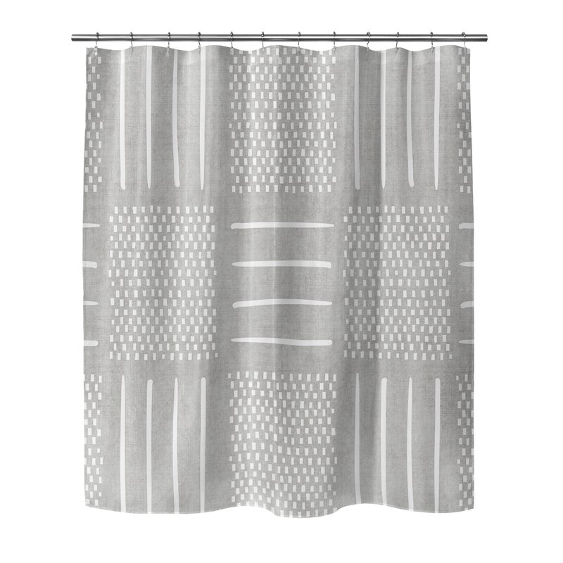 Adeline Geometric Shower Curtain