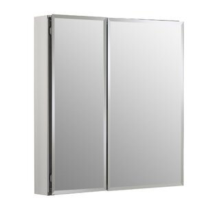 25 x 26 Recessed or Surface Mount Frameless Medicine Cabinet with 2 Adjustable Shelves by Kohler