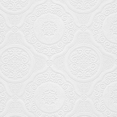 """Carter 33' x 21"""" Textured Paintable Roll Wallpaper ABMC"""