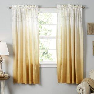 Yellow Gold Curtains Drapes You Ll Love Wayfair