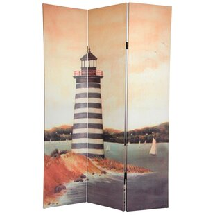 Highland Dunes Fiala Lighthouses 3 Panel Room Divider