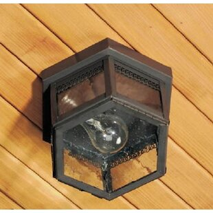 Reviews 1100 Series 1-Light Outdoor Flush Mount By Brass Traditions