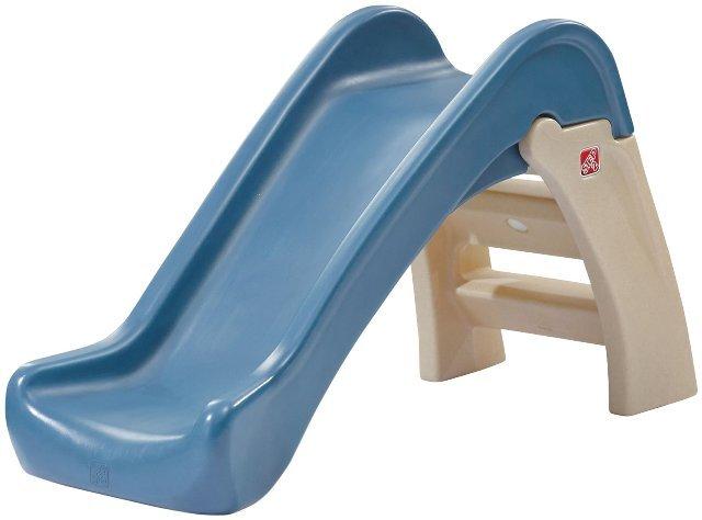 Indoor Patio Garden Caraya Toy Kids Junior Folding Climber 2 Step Play Slide Indoor Outdoor Easy Store Space Saving for Yard