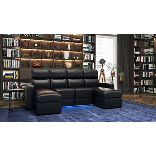 Leather Home Theater Sectional by Red Barrel Studio
