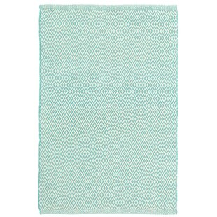 Crystal Blue/White Indoor/Outdoor Area Rug