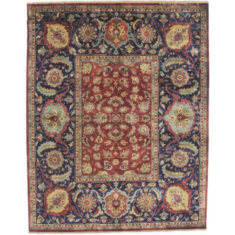 Exquisite Rugs Tabriz Hand Knotted Wool Red Area Rug Wayfair