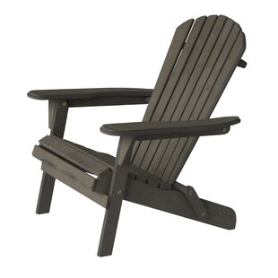 Highland Dunes Casarez Solid Wood Folding Adirondack Chair