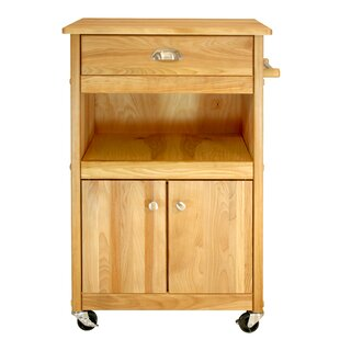 Cuisine Kitchen Cart with Butcher Block Top Catskill Craftsmen, Inc.