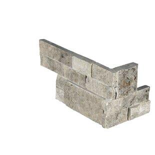 6 inch  x 18 inch  Travertine Tile in Gray/Beige