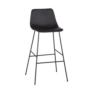 Suzanna Faux Leather 24.5 Bar Stool (Set of 2)