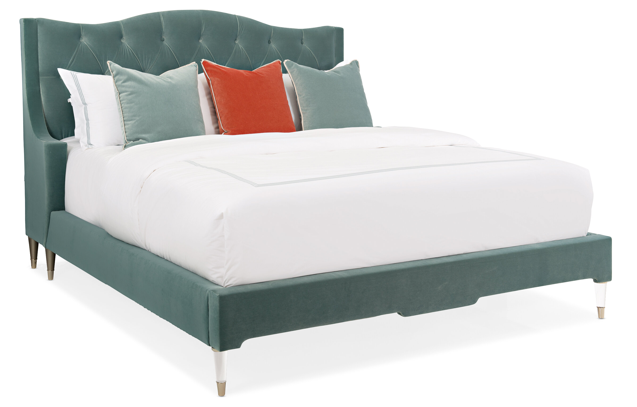 Caracole Classics Tufted Upholstered Low Profile Platform Bed Perigold