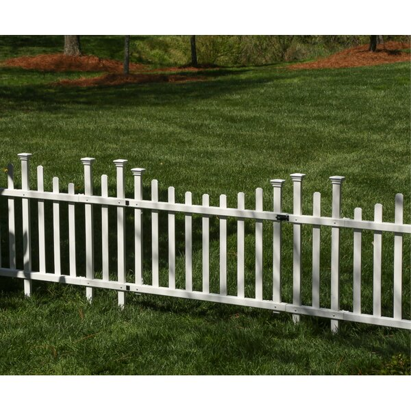 Zippity Outdoor Products ZP19028 Unassembled Madison Vinyl Gate Kit with Fence Wings White