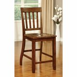 Jameel Transitional Solid Wood Slat Back Side Chair in Brown (Set of 2) by Bayou Breeze