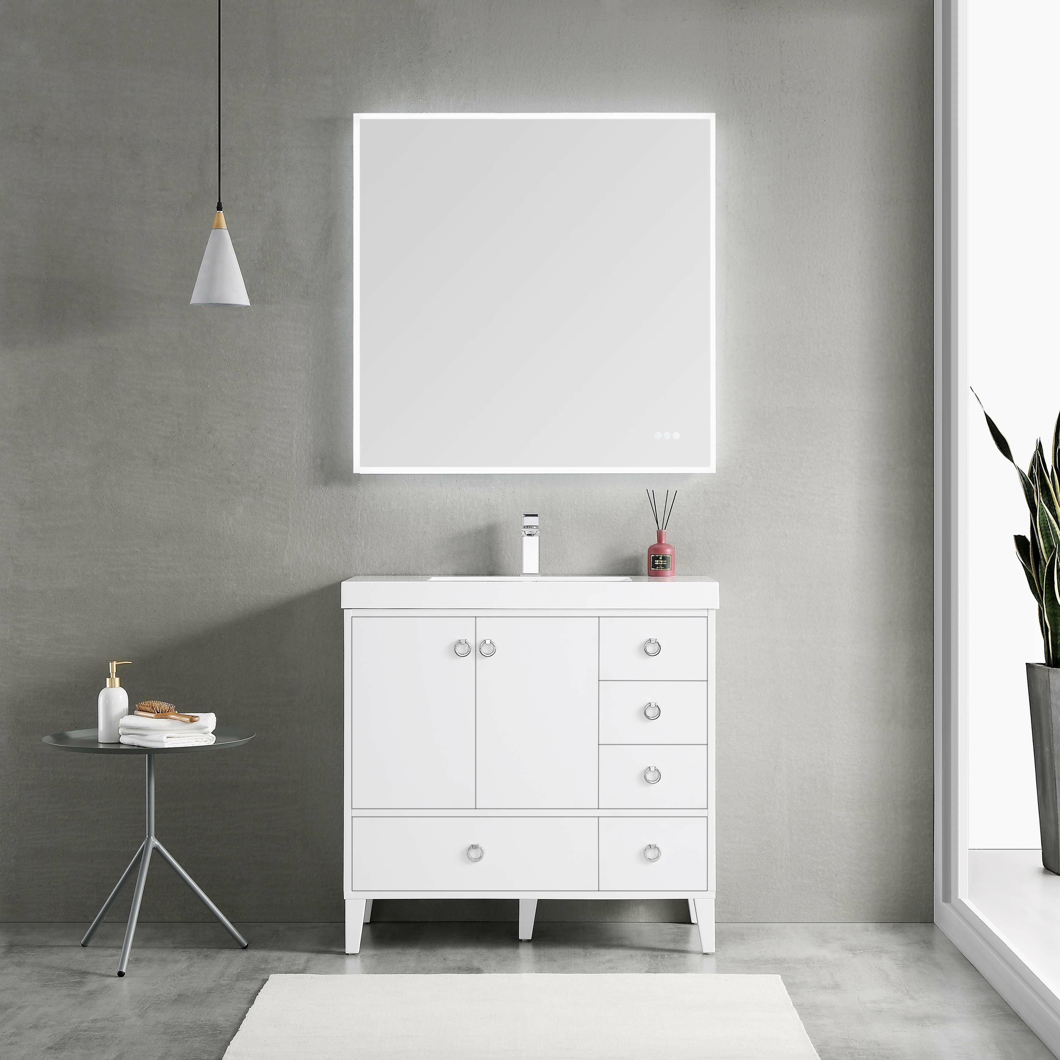 Ebern Designs Jez Waterproof Ergonomic Design 36 Single Bathroom Vanity Wayfair