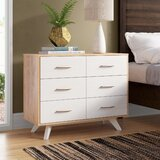 Montanez Mid Century Wood 6 Drawer Double Dresser by Trule
