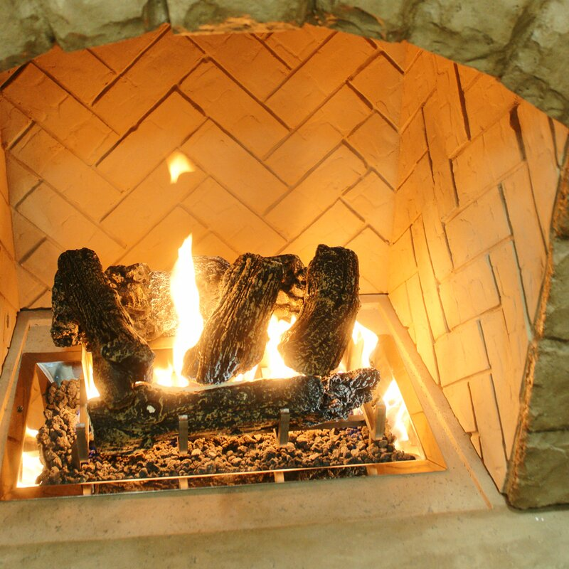 Log Set And Grate for Outdoor Fireplace