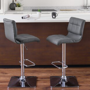 Crew Park Adjustable Height Swivel Bar Stool (Set of 2) by Orren Ellis