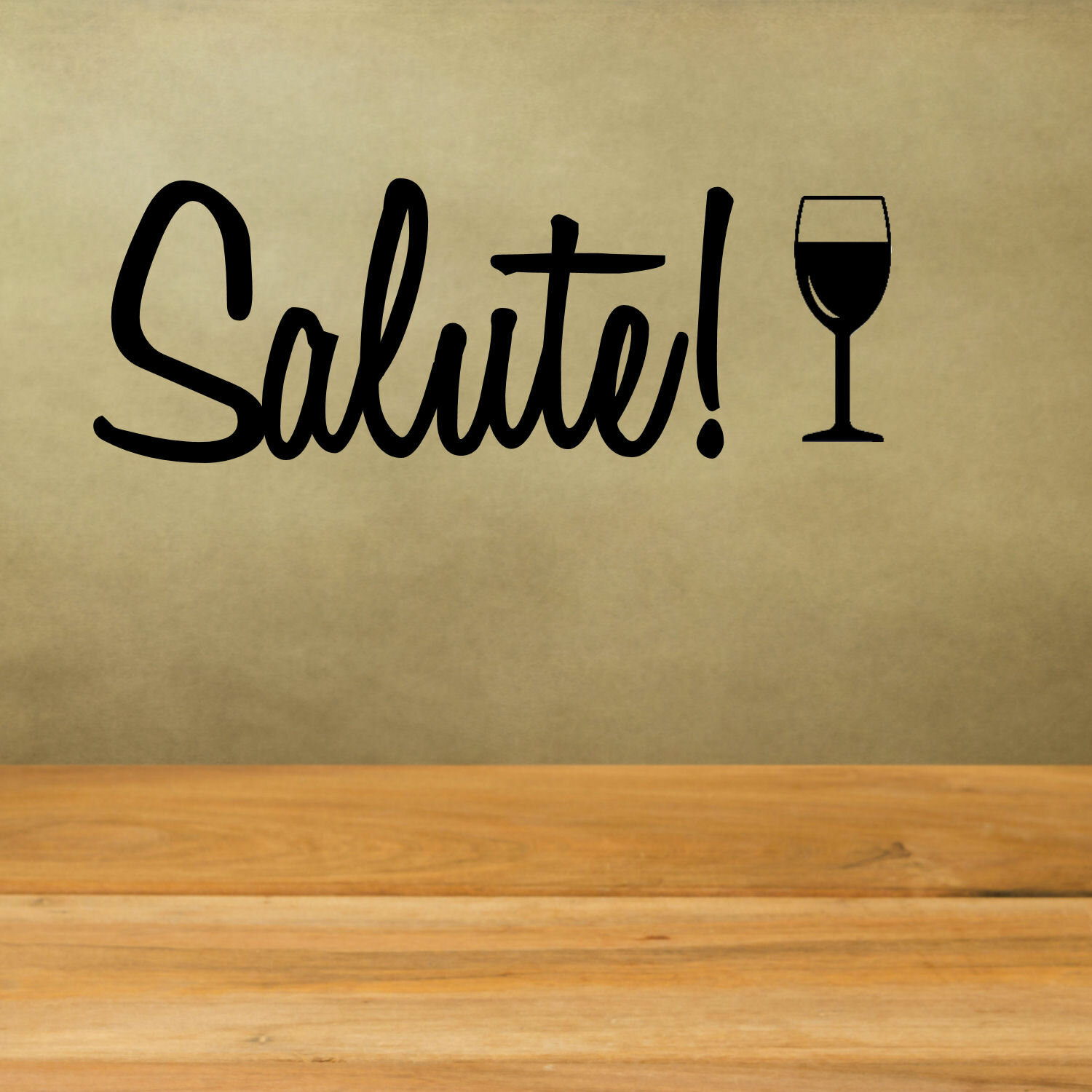 Decalthewalls Salute With Wine Glass Wall Decal Reviews Wayfair