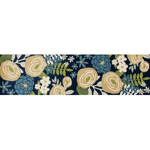 Seaport Seaside Boquet Blue Indoor/Outdoor Area Rug