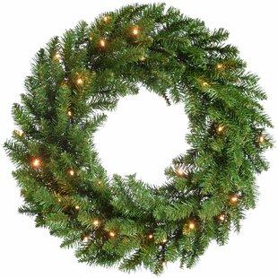 Timberland Spruce Pre-Lit Illuminated 60cm Christmas Wreath Image