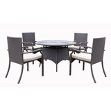 Pacific 5 Piece Dining Set with Cushions