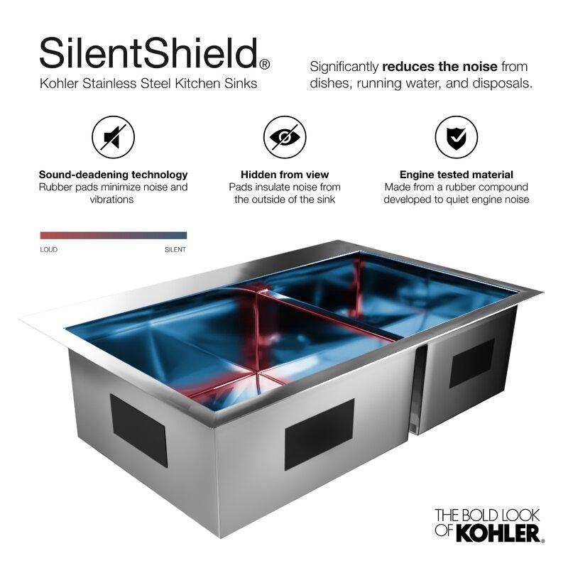 Kohler Prolific 23 In X 17 3 4 In X 10 In Under Mount Single Bowl Kitchen Sink With Accessories Reviews Wayfair