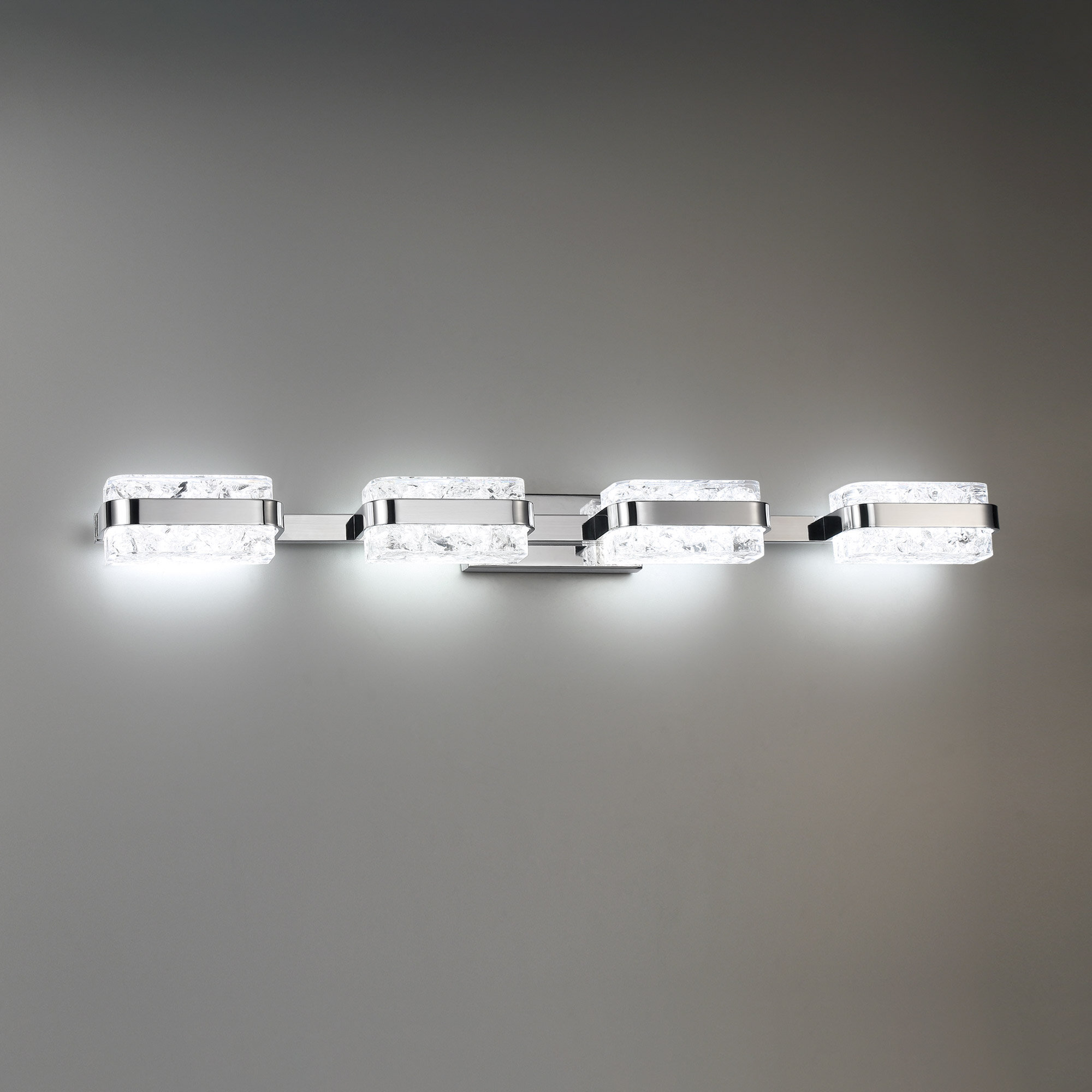 Modern Forms Forbes 4 Light Dimmable Led Polished Nickel Vanity Light Wayfair