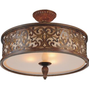 CWI Lighting Nicole 5-Light Semi Flush Mount