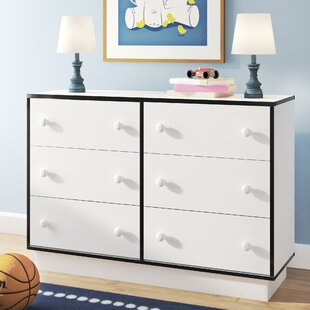 Shyann Contemporary 6 Drawer Double Dresser by Zoomie Kids