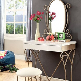 Fleur De Lis Living Cowden Vanity with Mirror