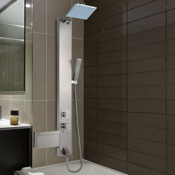akdy rainfall shower panel tower u0026 reviews wayfair - Shower Diverter