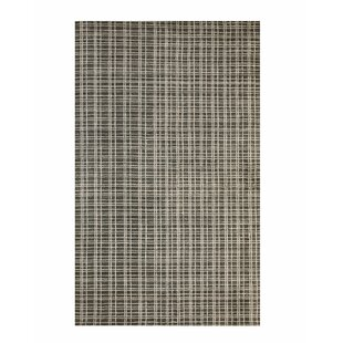 Searching for Southwell Hand-Knotted Bamboo Slat/Seagrass Black/White Area Rug By Williston Forge